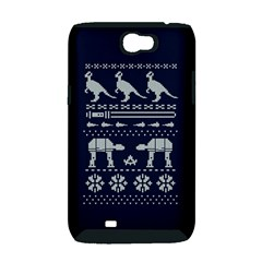 Holiday Party Attire Ugly Christmas Blue Background Samsung Galaxy Note 2 Hardshell Case (PC+Silicone)