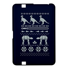 Holiday Party Attire Ugly Christmas Blue Background Kindle Fire HD 8.9