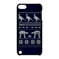 Holiday Party Attire Ugly Christmas Blue Background Apple iPod Touch 5 Hardshell Case with Stand