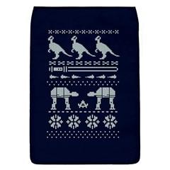 Holiday Party Attire Ugly Christmas Blue Background Flap Covers (S)