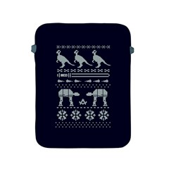 Holiday Party Attire Ugly Christmas Blue Background Apple iPad 2/3/4 Protective Soft Cases