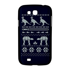 Holiday Party Attire Ugly Christmas Blue Background Samsung Galaxy Grand GT-I9128 Hardshell Case