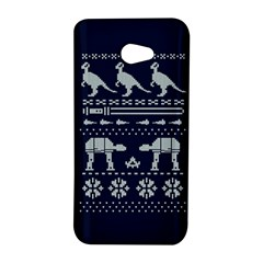 Holiday Party Attire Ugly Christmas Blue Background HTC Butterfly S/HTC 9060 Hardshell Case