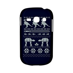Holiday Party Attire Ugly Christmas Blue Background Samsung Galaxy S6810 Hardshell Case