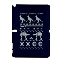 Holiday Party Attire Ugly Christmas Blue Background Samsung Galaxy Note 10.1 (P600) Hardshell Case