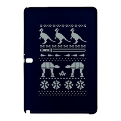 Holiday Party Attire Ugly Christmas Blue Background Samsung Galaxy Tab Pro 10.1 Hardshell Case