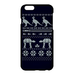 Holiday Party Attire Ugly Christmas Blue Background Apple iPhone 6 Plus/6S Plus Hardshell Case