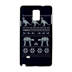Holiday Party Attire Ugly Christmas Blue Background Samsung Galaxy Note 4 Hardshell Case