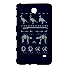 Holiday Party Attire Ugly Christmas Blue Background Samsung Galaxy Tab 4 (7 ) Hardshell Case