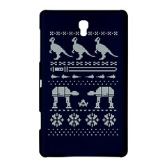 Holiday Party Attire Ugly Christmas Blue Background Samsung Galaxy Tab S (8.4 ) Hardshell Case