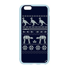 Holiday Party Attire Ugly Christmas Blue Background Apple Seamless iPhone 6/6S Case (Color)