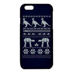 Holiday Party Attire Ugly Christmas Blue Background iPhone 6/6S TPU Case