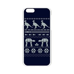 Holiday Party Attire Ugly Christmas Blue Background Apple Seamless iPhone 6/6S Case (Transparent)
