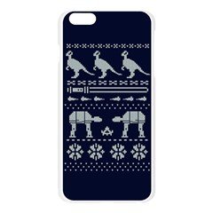 Holiday Party Attire Ugly Christmas Blue Background Apple Seamless iPhone 6 Plus/6S Plus Case (Transparent)