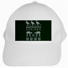 Holiday Party Attire Ugly Christmas Green Background White Cap