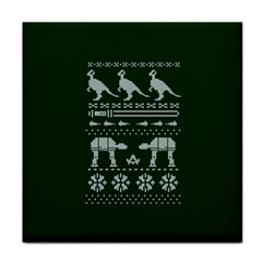 Holiday Party Attire Ugly Christmas Green Background Tile Coasters