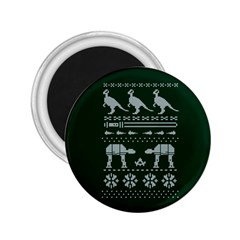 Holiday Party Attire Ugly Christmas Green Background 2.25  Magnets