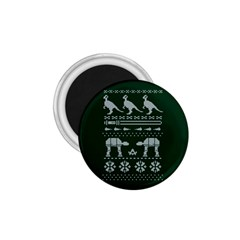 Holiday Party Attire Ugly Christmas Green Background 1.75  Magnets