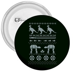 Holiday Party Attire Ugly Christmas Green Background 3  Buttons
