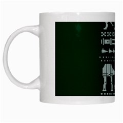 Holiday Party Attire Ugly Christmas Green Background White Mugs