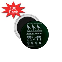 Holiday Party Attire Ugly Christmas Green Background 1.75  Magnets (100 pack)