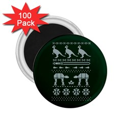Holiday Party Attire Ugly Christmas Green Background 2.25  Magnets (100 pack)