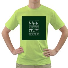 Holiday Party Attire Ugly Christmas Green Background Green T-Shirt
