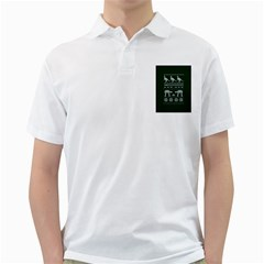 Holiday Party Attire Ugly Christmas Green Background Golf Shirts