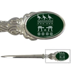 Holiday Party Attire Ugly Christmas Green Background Letter Openers