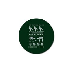 Holiday Party Attire Ugly Christmas Green Background Golf Ball Marker