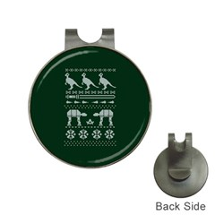 Holiday Party Attire Ugly Christmas Green Background Hat Clips with Golf Markers