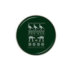 Holiday Party Attire Ugly Christmas Green Background Hat Clip Ball Marker (4 pack)
