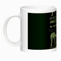 Holiday Party Attire Ugly Christmas Green Background Night Luminous Mugs