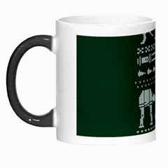 Holiday Party Attire Ugly Christmas Green Background Morph Mugs