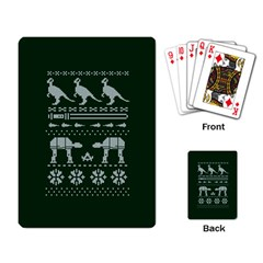 Holiday Party Attire Ugly Christmas Green Background Playing Card