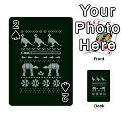 Holiday Party Attire Ugly Christmas Green Background Playing Cards 54 Designs