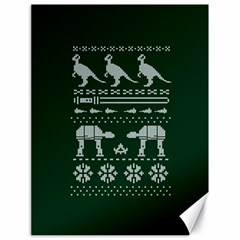 Holiday Party Attire Ugly Christmas Green Background Canvas 18  x 24