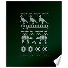 Holiday Party Attire Ugly Christmas Green Background Canvas 20  x 24