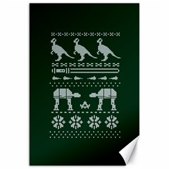 Holiday Party Attire Ugly Christmas Green Background Canvas 20  x 30