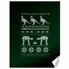 Holiday Party Attire Ugly Christmas Green Background Canvas 36  x 48