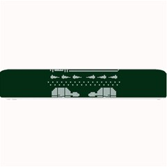 Holiday Party Attire Ugly Christmas Green Background Small Bar Mats