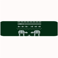 Holiday Party Attire Ugly Christmas Green Background Large Bar Mats