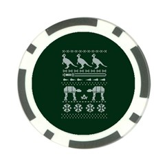 Holiday Party Attire Ugly Christmas Green Background Poker Chip Card Guards