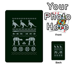 Holiday Party Attire Ugly Christmas Green Background Multi-purpose Cards (Rectangle)