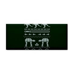 Holiday Party Attire Ugly Christmas Green Background Hand Towel