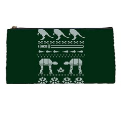 Holiday Party Attire Ugly Christmas Green Background Pencil Cases