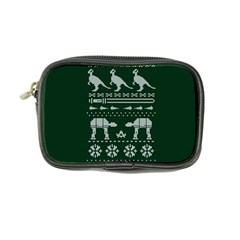 Holiday Party Attire Ugly Christmas Green Background Coin Purse