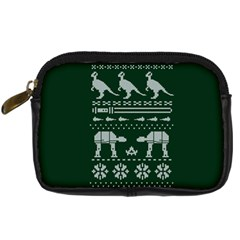 Holiday Party Attire Ugly Christmas Green Background Digital Camera Cases