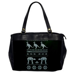 Holiday Party Attire Ugly Christmas Green Background Office Handbags