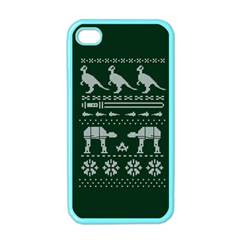 Holiday Party Attire Ugly Christmas Green Background Apple iPhone 4 Case (Color)